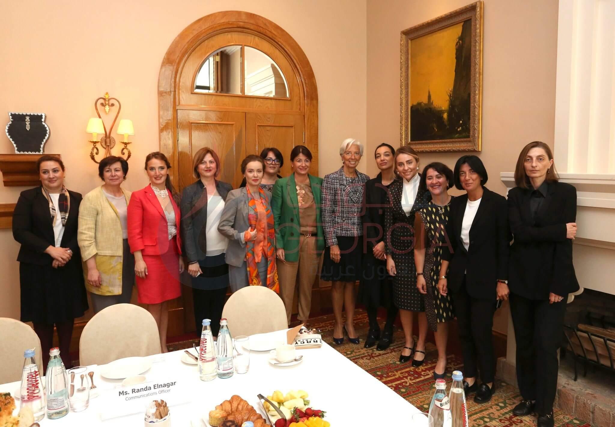 كرستين لاجارد في لقاء طلاب التعليم العالي: ستؤدي زيادة مشاركة المرأة في القوى العاملة إلى تحقيق مكاسب اقتصادية كبيرة لـ جورجيا (المصدر: حساب تويتر)